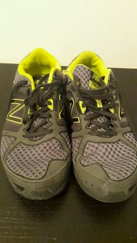 pair of gray-and-green NB running shoes Toronto, M4G 4K4