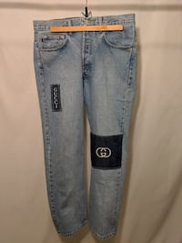reworked Gucci jeans