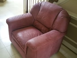 Excellent condition Pink Leather Sofa Chair
