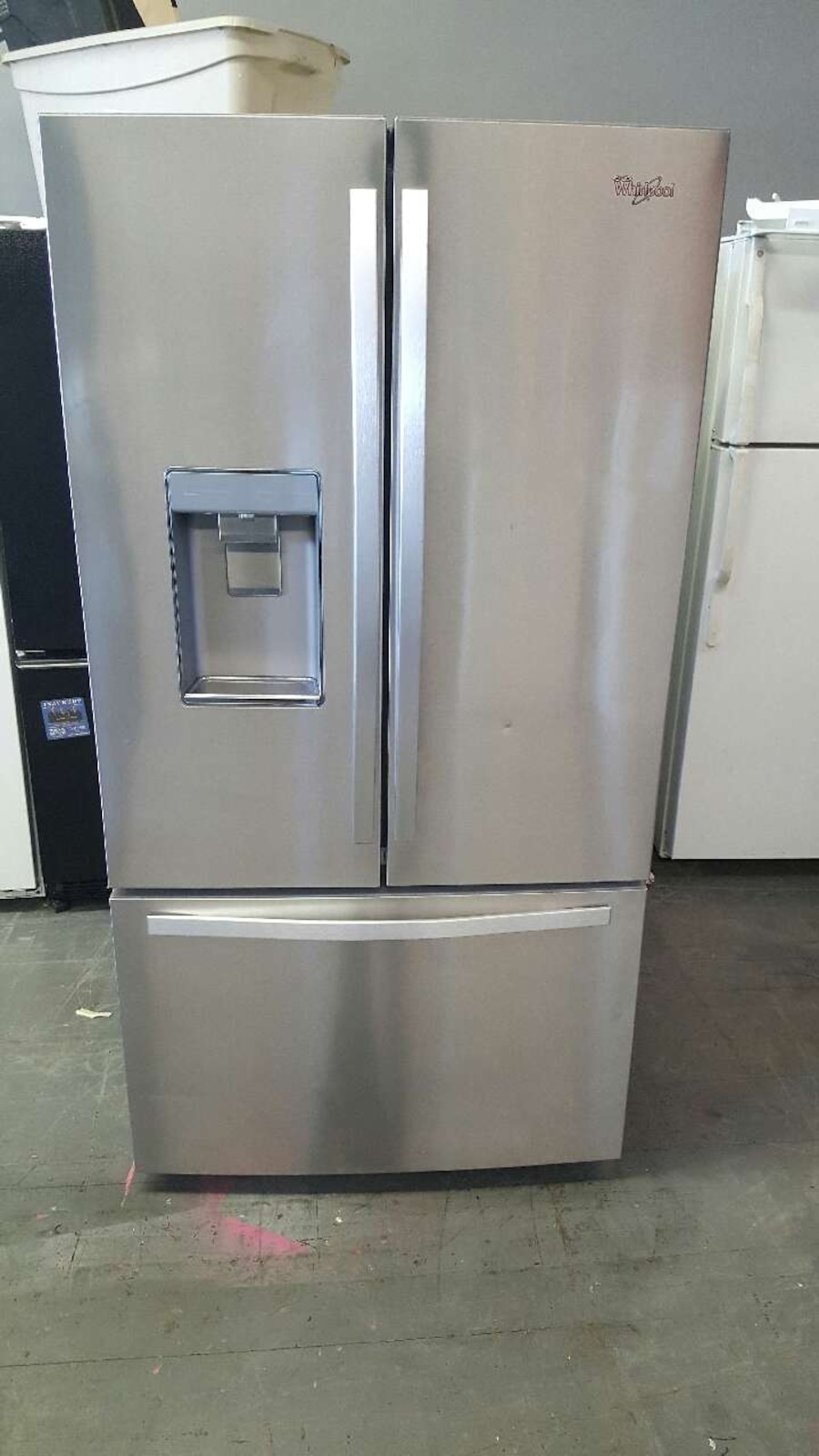 Used Whirlpool Stainless Steel French Door Refrigerator In