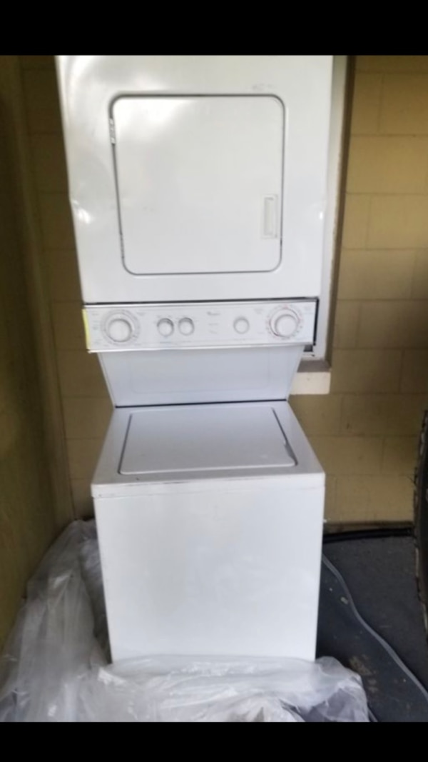 Whirlpool stacking stackable washer and dryer combo pair 24 inches wide