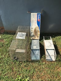 3 traps as a set. One brand new in box one slightly used the other used 144 mi