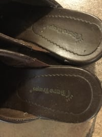 pair of brown Bare Traps leather shoes