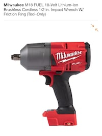 red and black Milwaukee cordless hand drill Miami, 33147