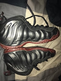 pair of black-and-red Nike Foamposite Springfield, 22150