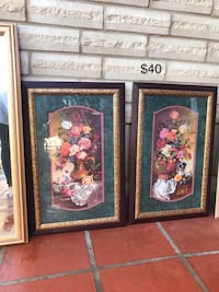 two brown wooden framed paintings Laredo, 78046