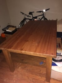IKEA solid wood table for 6 and chairs Frederick, 21704