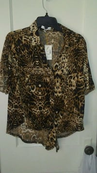 brown and black leopard print button-up shirt El Paso, 79903