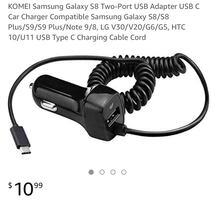 Samsung Galaxy S8 Two-Port USB Adapter USB C Car Charger