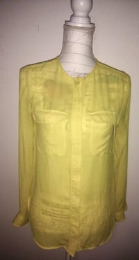 H&M Yellow Sheer Pocket Top Toronto