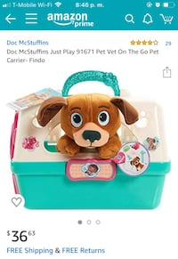 Doc McStuffins Pet Vet On The Go Pet Carrier