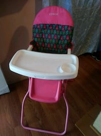baby's red and white high chair Stockton, 95205