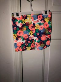 black, pink, and green floral skirt 647 mi