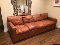 Ralph Lauren genuine leather couch Los Angeles, 90046