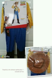 BNWT 3-4T Toy Story Woody Costume Milton