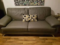 Grey leather couch Toronto, M6K 3M8