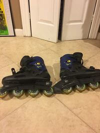 Pair of blue-and-black inline skates, Size 11 Ashburn, 20147