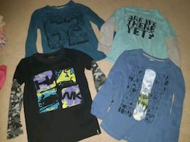 Size 6/7T tops