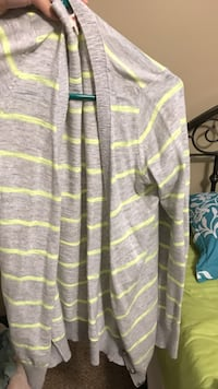 Lime-green and heather-gray long-sleeve cardigan Rockmart, 30153