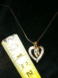 silver chain necklace with pendant Niles, 49120