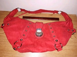 Red Suede GUESS Handbag