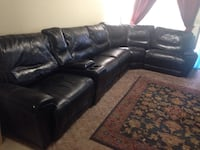 Black Leather Sectional Vancouver, 98684