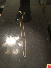 14k solid gold chain 24 inches long condition is new