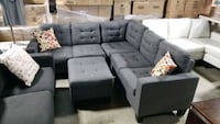Fabric sectional with ottoman  Mississauga, L4X 1R1