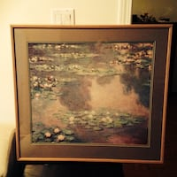 Brown wooden framed water hyacinth photo, lovely, calm n soft colours Vaughan, L4H 3P6