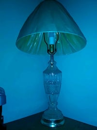 clear glass base table lamp 154 mi