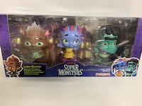 Netflix Super Monsters Set of 3 Collectible Figures Monster Trio Toy