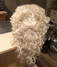 Professional Santa Claus Costume + WIG & REAL BOOTS & all accessories