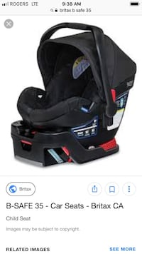 Britax b safe infant car seat. Expiry 2019, excellent used condition w infant head cushion and strap covers