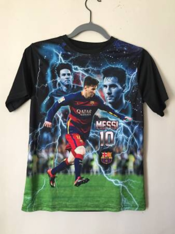 premium selection c05bd 2ab56 ***** Lionel Messi Official FC Barcelona FCB All Over Print Soccer Jersey  T-shirt RN139146 Youth Size Large *****