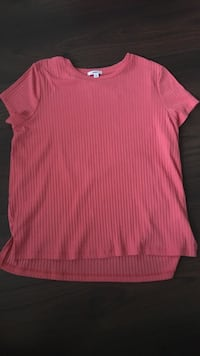 Pink ribbed half sleeve shirt by ardene  Brampton, L6V