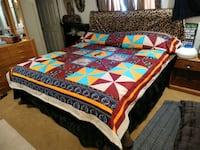 red, blue, and white bed comforter Albuquerque, 87121