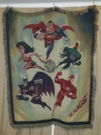 Justice League DC six flags throw blanket
