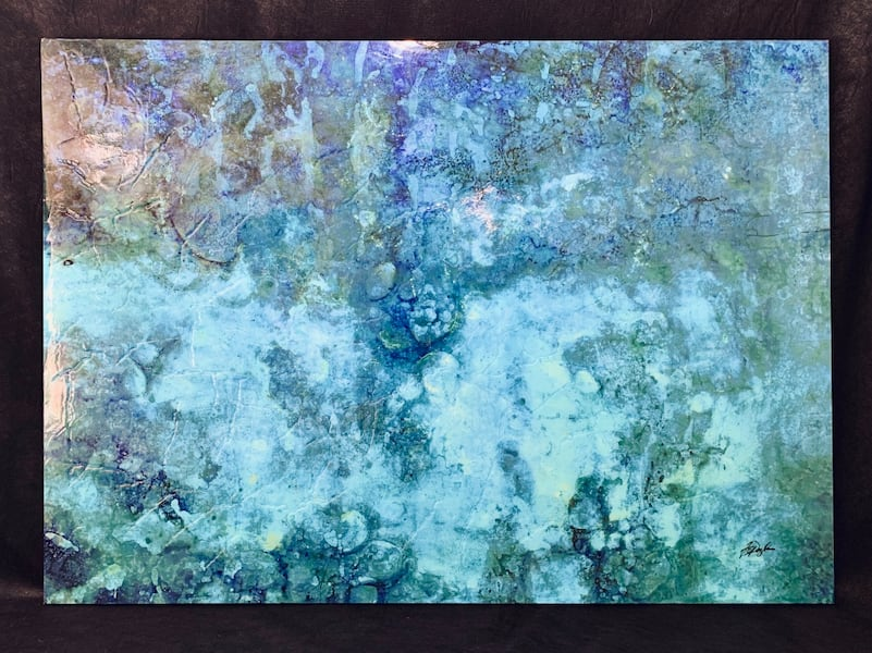 Beautiful Glossy Abstract Painting 30839f3d-67ba-445f-a2e2-bcb6d0d700dd