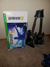 two black Xbox one guitar hero controllers with box Colorado Springs, 80922