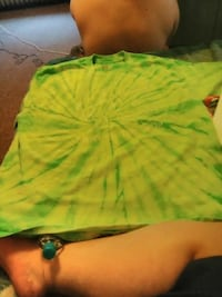 tie-dye lime-green and yellow crew-neck t-shirt Clarion, 16214
