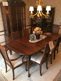 Harden formal dining table with 8 chairs