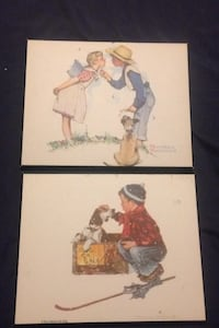 Norman  RockWell laminated original pics pick up in laval
