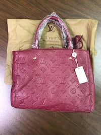 Burgundy LV leather tote bag Upper Marlboro, 20774
