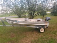 12ft V bottom boat with motor and trailer Stanwood, 49346