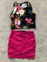 Flora crop top and pink skirt Surrey, V3S 9G9
