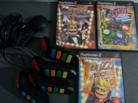 3 PlayStation 2 games with 4 controllers Dover, 19901