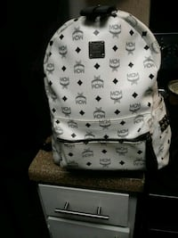 white and black MCM leather backpack Houston, 77035