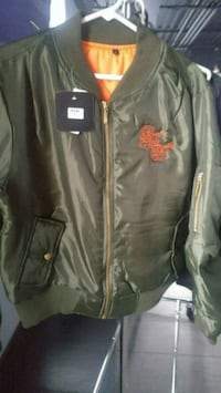 black leather zip-up jacket Mississauga, L4Y 4G6