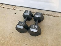 50lbs Dumbbells - Weights - Gym Equipment  - Training - Work Out Woodridge