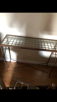 Gold/glass side table